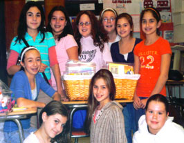 Girl Scout Troop 1249 made 2 baskets of Books on Tape for the children of Angela's House