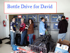 Bottle Drive for David