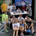 Derek and Shiro put together a great group of kids to do a garage sale fundraiser
