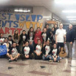Students from West Islip HS show support
