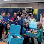 Members of Girl Scout Troop 85 in the Elwood School District made Angela's House the recipient of their Bronze Award efforts